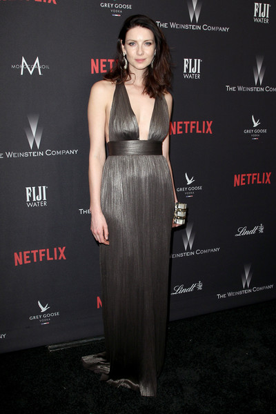 Caitriona Balfe Halter Dress