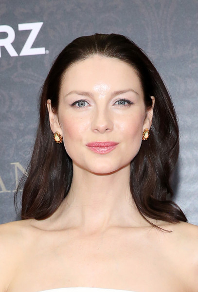 Caitriona Balfe Long Wavy Cut [hair,face,eyebrow,hairstyle,lip,skin,chin,forehead,beauty,shoulder,arrivals,caitriona balfe,new york city,american museum of natural history,outlander season two world premiere]