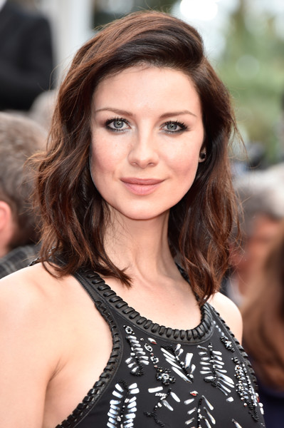 Caitriona Balfe Medium Wavy Cut [hair,face,hairstyle,eyebrow,brown hair,beauty,lip,skin,long hair,chin,caitriona balfe,cannes,france,red carpet arrivals,cafe society,cafe society opening gala,cannes film festival,premiere,opening night gala,palais des festivals]