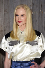 Nicole Kidman framed her face with a sleek straight cut for the Calvin Klein fashion show.