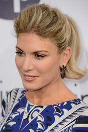 Hofit Golan styled her hair into a flippy ponytail with a teased crown for the Calvin Klein party in Cannes.