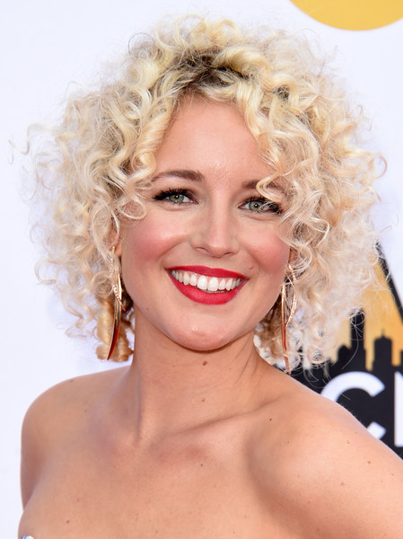 Cam Short Curls [hair,face,blond,hairstyle,lip,eyebrow,chin,ringlet,beauty,skin,arrivals,cam,arlington,texas,at t stadium,academy of country music awards]