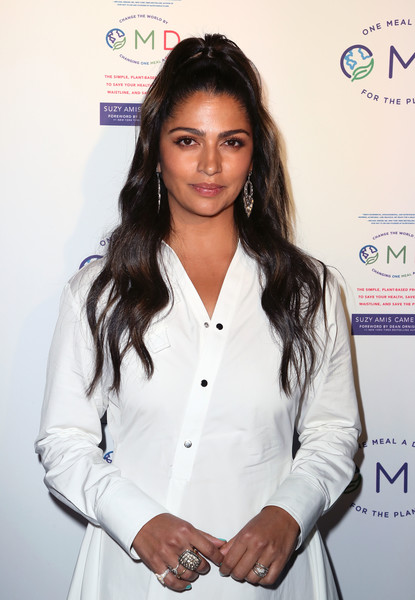 Camila Alves Statement Ring [book,book,long hair,white-collar worker,fashion design,suzy amis,james cameron hosts book launch party,camila alves,crossroads kitchen,california,los angeles,omd,book launch party]