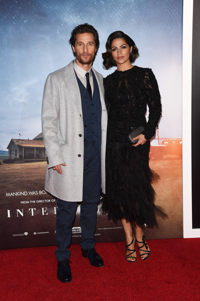 Camila Alves Little Black Dress [red carpet,premiere,suit,carpet,event,fashion,formal wear,flooring,fashion design,tuxedo,matthew mcconaughey,camila alves,interstellar,new york,amc lincoln square theater,l,premiere,new york premiere]