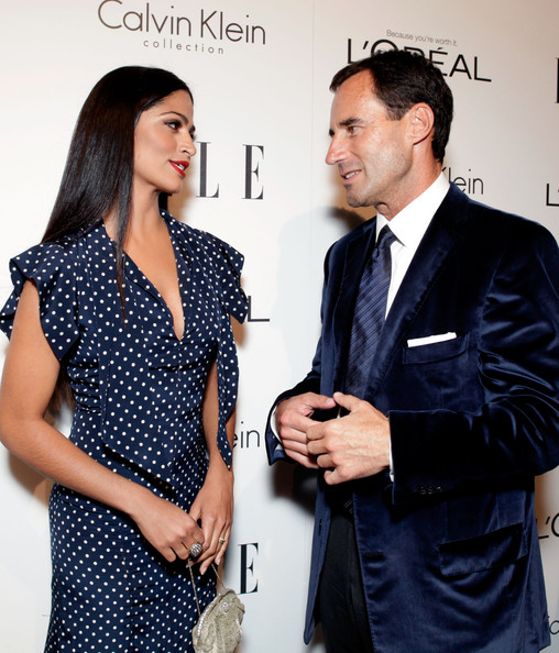 Camila Alves Diamond Ring [elle,publisher,l,clothing,suit,fashion,formal wear,design,dress,event,outerwear,white-collar worker,polka dot,beverly hills,18th annual women in hollywood tribute,camila alves,18th annual women in hollywood tribute - red carpet,kevin o,malley,elle svp]
