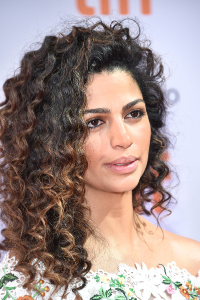 Camila Alves Medium Curls [sing,hair,ringlet,hairstyle,eyebrow,long hair,beauty,chin,black hair,brown hair,human,camila alves,toronto,canada,princess of wales theatre,toronto international film festival - sing premiere,premiere]