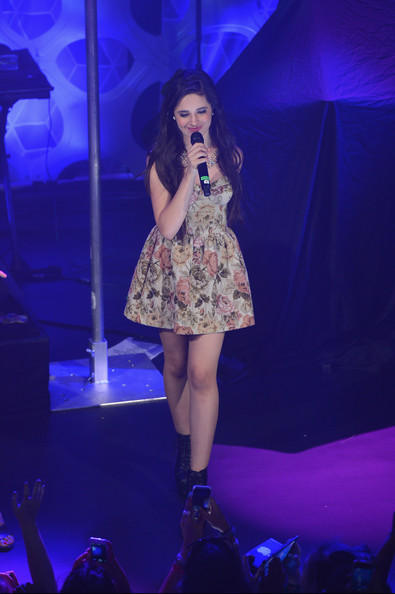Camila Cabello Baby Doll Dress [performance,entertainment,performing arts,music artist,public event,fashion,stage,event,thigh,electric blue,hot chelle rae,camila cabello,fifth harmony darling parade,borough,new york city,pop tarts,mtv,a crazy good vma concert event,event,crazy good vma concert]