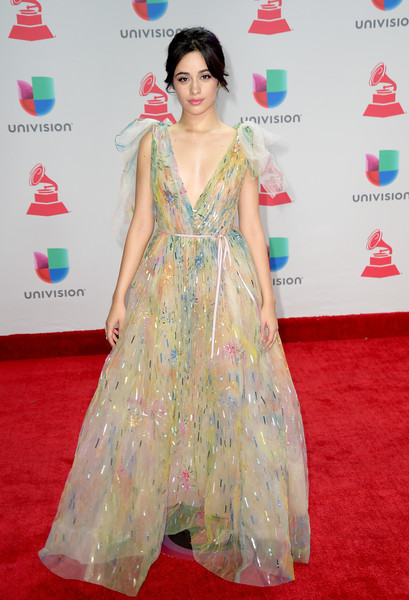 Camila Cabello Princess Gown [latin music,flooring,carpet,red carpet,fashion model,gown,shoulder,dress,fashion,joint,fashion design,arrivals,camila cabello,musician,singer,latin grammy awards,carpet,red carpet,flooring,las vegas,camila cabello,latin grammy awards of 2017,latin grammy award,grammy awards,59th annual grammy awards,60th annual grammy awards,latin grammy awards of 2016,latin music,musician,singer]