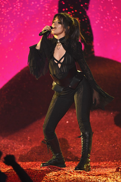 Camila Cabello Jumpsuit [performance,performing arts,music artist,event,singing,pop music,singer,camila cabello,billboard music awards,las vegas,nevada,mgm grand garden arena,show]