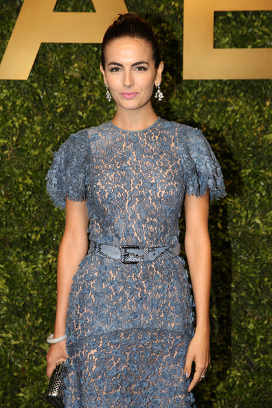 Camilla Belle Printed Belt [clothing,dress,cocktail dress,fashion,fashion model,day dress,haute couture,black hair,long hair,electric blue,michael kors jet set experience,shanghai,china,arrivals,camilla belle]