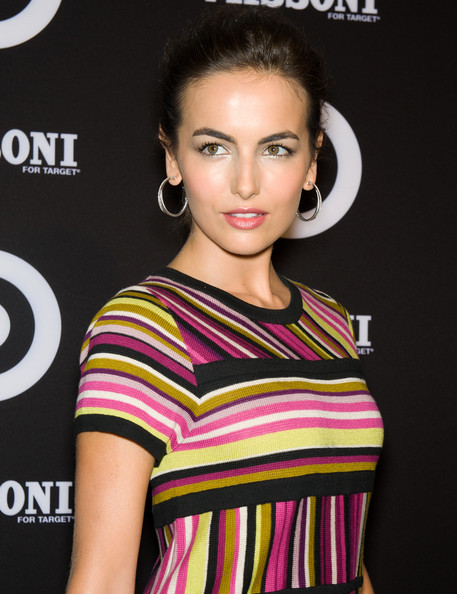 Camilla Belle Diamond Hoops [hair,face,hairstyle,eyebrow,beauty,lip,fashion model,shoulder,fashion,eyelash,camilla belle,new york city,target pop-up store,missoni for target collection launch,missoni,target collection,launch]