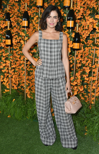 Camilla Belle Peplum Top [clothing,plaid,fashion,overall,pattern,design,dress,pantsuit,long hair,trousers,arrivals,camilla belle,los angeles,pacific palisades,california,will rogers state historic park,veuve clicquot polo classic]