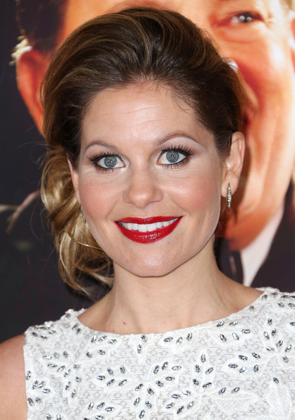 Candace Cameron Bure Hair Knot [saving mr. banks,hair,face,eyebrow,hairstyle,lip,chin,skin,beauty,forehead,nose,arrivals,candace cameron bure,california,burbank,disney,walt disney studios,premiere]