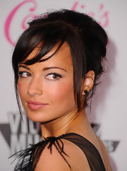 Ashley Rickards' dewy pink lips looked fresh and feminine at the Candie's 2011 MTV Video Music Awards after party. To recreate the look, try a creamy, beige-pink shade like NARS lipstick in Catfight.