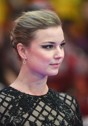 Emily VanCamp opted for a classic braided bun when she attended the European premiere of 'Captain America: Civil War.'