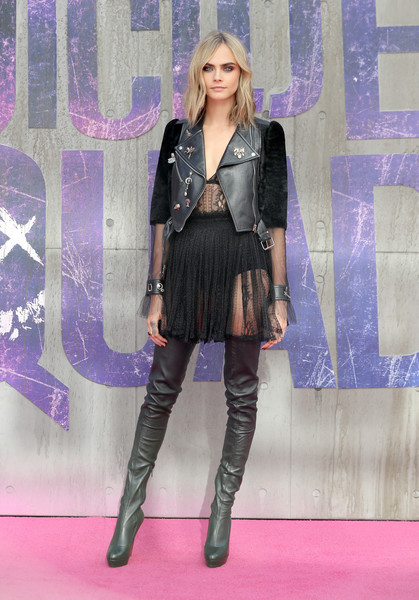 Cara Delevingne Over the Knee Boots