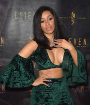 Cardi B impressed us with her dangerous-looking yet artfully done mani during her performance at E11EVEN.