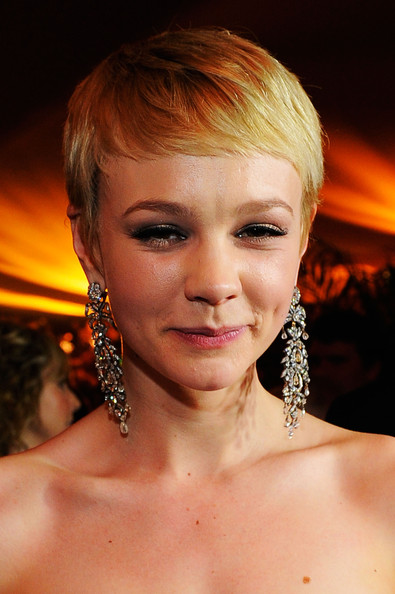 Carey Mulligan Dangling Diamond Earrings