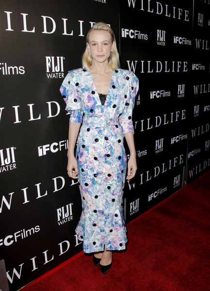 Carey Mulligan Print Dress