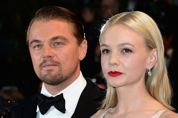 Carey Mulligan Red Lipstick [hair,face,hairstyle,eyebrow,head,premiere,nose,blond,chin,cheek,carey mulligan,leonardo dicaprio,l-r,theatre lumiere,cannes,france,opening ceremony,the great gatsby premiere - the 66th annual cannes film festival,cannes film festival]