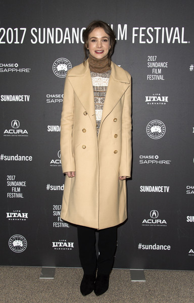 Carey Mulligan Wool Coat