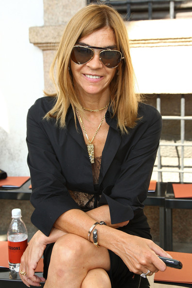 Carine Roitfeld Long Side Part