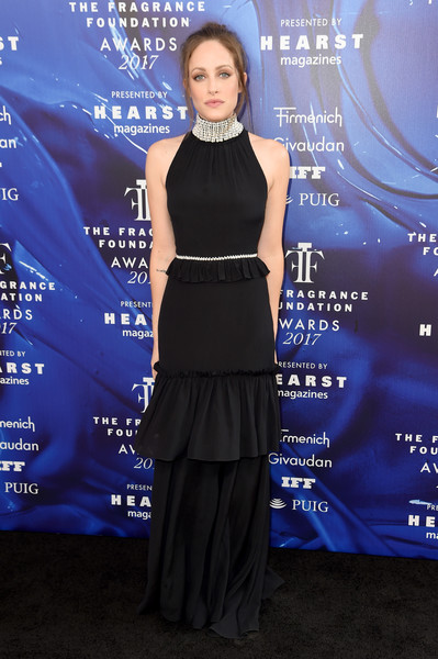 Carly Chaikin Halter Dress [clothing,dress,cobalt blue,electric blue,carpet,premiere,event,flooring,formal wear,style,arrivals,carly chaikin,fragrance foundation awards,new york city,alice tully hall,hearst magazines]