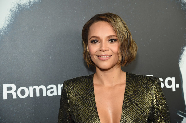 Carmen Ejogo Short Wavy Cut [hair,hairstyle,blond,premiere,long hair,brown hair,smile,carmen ejogo,esq,screening,red carpet,roman j. israel,new york,brookfield place,henry r. luce auditorium]