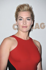 Kate Winslet wore her hair in a lovely french twist at the Paris premiere of 'Carnage.'