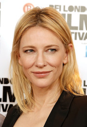 Cate Blanchett attended the BFI London Film Fest photocall for 'Carol' rocking unstyled hair.
