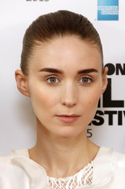 Rooney Mara pulled her locks back into a very tight ponytail for the BFI London Film Fest photocall for 'Carol.'