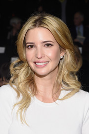 Ivanka Trump looked simply gorgeous with her long wavy hair at the Carolina Herrera fashion show.