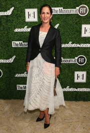 Patricia Herrera Lansing layered a fitted black jacket over a delicate dress for the Couture Council Award luncheon.