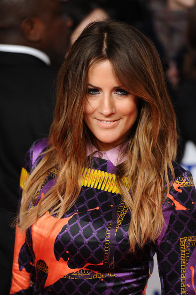 Caroline Flack Long Center Part