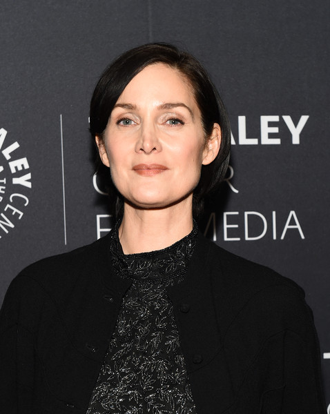 Carrie-Anne Moss Bob [paley center for media presents: an evening with jessica jones,the paley center for media presents: an evening with jessica jonesat,hair,face,eyebrow,hairstyle,lip,chin,forehead,black hair,cheek,neck,carrie anne moss,new york city,paley center for media]