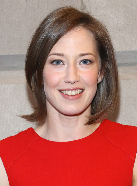 Carrie Coon Bob [the realistic joneses,hair,face,hairstyle,eyebrow,chin,beauty,brown hair,lip,forehead,smile,opening night - arrivals,carrie coon,curtain call,new york city,the lyceum theater]