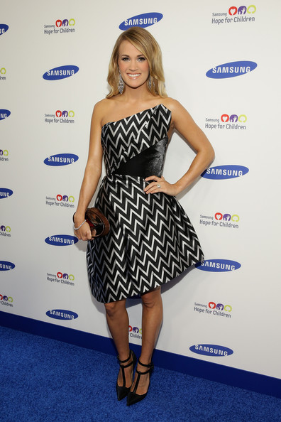 Carrie Underwood Strapless Dress