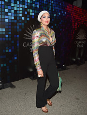 Rachel Roy rocked a pair of high-waisted black pants at the Casamigos Halloween party.