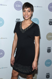 Cush Jumbo donned a studded and grommeted LBD for the Artios Awards.