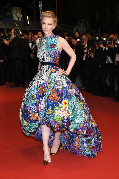 Cate Blanchett Evening Pumps [fashion model,flooring,catwalk,fashion,runway,carpet,dress,fashion show,haute couture,red carpet,red carpet arrivals,cate blanchett,jury,screening,cannes,france,zimna wojna,cold war,cannes film festival,palais des festivals]