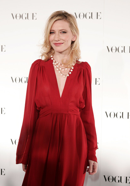 Cate Blanchett Layered Beaded Necklace