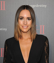 Louise Roe framed her face with this straight center-parted 'do for the SK-II Change Destiny Forum.