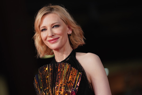 Cate Blanchett Bob [the house with a clock in its walls,hair,beauty,fashion,blond,lady,hairstyle,lip,performance,dress,fashion model,cate blanchett,red carpet,auditorium parco della musica,rome,italy,red carpet arrivals,rome film fest,screening]