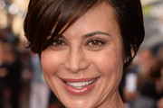 Catherine Bell Side Parted Straight Cut