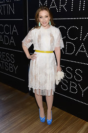 Blair Rich chose a romantic evening frock with this white lace dress.