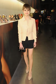 Sami Gayle chose this tan blazer for her chic and simple evening look.