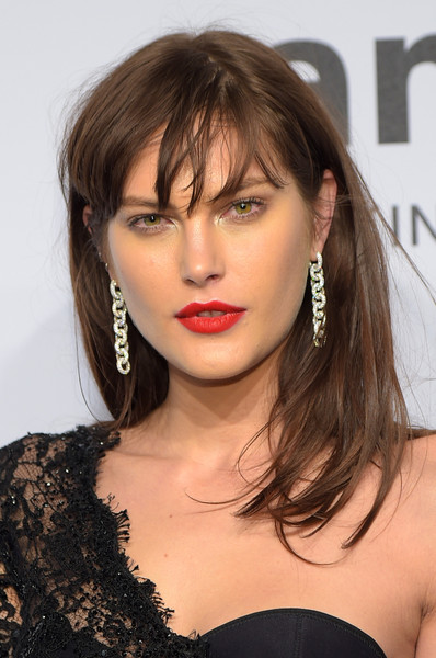 Catherine McNeil Long Straight Cut with Bangs