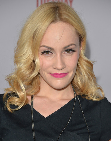 Cathy Baron Pink Lipstick [season,justified,season 5,hair,blond,face,hairstyle,eyebrow,lip,chin,beauty,long hair,forehead,arrivals,actress,cathy baron,los angeles,california,premiere screening of fx,premiere]