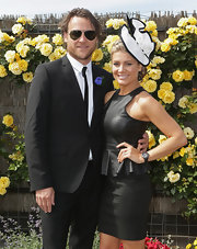 Natalie Bassingthwaighte wore a standout decorative hat at the Derby Day.
