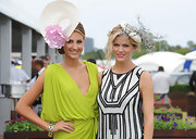 Laura Dundovic topped off her Magic Millions Raceday look with a romantic floral hat.